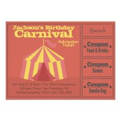 Carnival Admission Ticket With coupons