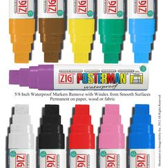 Wide Chalk Paint Marker Zig Posterman Big and Bold by ImageAbility