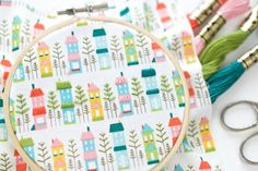 Add character and easy embroidery decoration to your favorite printed fabric. The design becomes a pattern for you to follow!