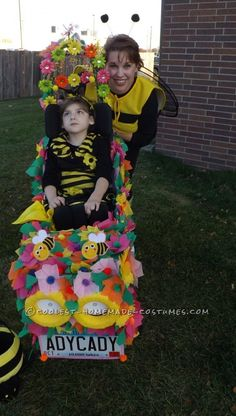 Awesome Bee Flower Wheelchair Car Costume... Coolest Homemade Costumes