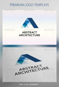 Abstract Architecture Logo Template - Abstract Logo Templates || This is a nice, clean logo that could easily become a dynamic logo. #dynamiclogopotential ||