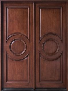Contemporary Series Mahogany Solid Wood Front Entry Door - Double - DB-875 DD
