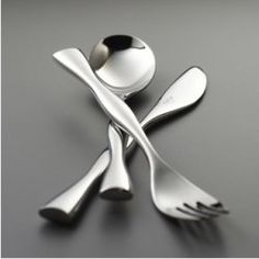 The Nambe Butterfly Collection flatware by Karim Rashid for Nambe