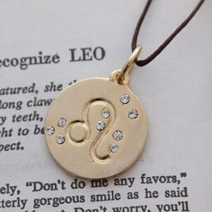 Leo Zodiac Pendant Necklace...I don't know why I guess I just love this Necklace