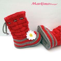 Stiefel & Booties - Babystiefel Babyschuhe Sohle 10 cm - ein Designerstück von Markimo bei DaWanda
