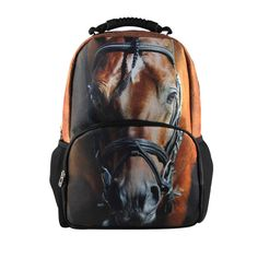 Cool Children 3D Animal Felt Backpack Men's Backpack Crazy Horse Printing Bag For School Girls College Student Bagpack Retail
