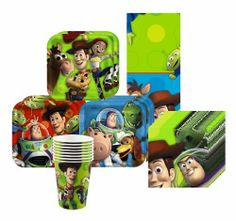 Toy Story 3 Party Kit for 8 by Hallmark. $15.90. Includes (8)  sc 1 st  Pinterest & Toy Story Square Paper Plates   Kids Toy Story Birthday Party ...