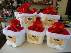 Boîte emballage Père Noël