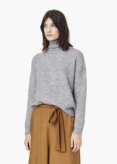 Funnel neck sweater -  Women | MANGO