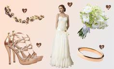 Vestido de Inmaculada García 2014 - http://www.bodas.net/articulos/look-de-novia-en-tonos-cobrizos--c2341