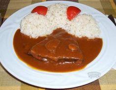 Debrecínská pečeně French Toast, Curry, Food And Drink, Menu, Pudding, Cooking, Breakfast, Ethnic Recipes, Desserts