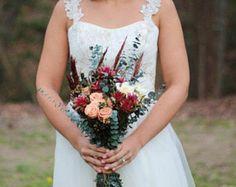 Felt Bride Bouquet Custom Wedding Bride's Flowers Felt
