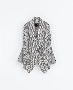 Zara jacquard wrap sweater