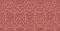 Bohemian Damask (W621-05) - Sheila Coombes Wallpapers - A traditional crown and tulip style all over damask with a hand painted effect. Shown in the strawberry red colourway. Please request sample for true colour match.