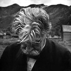 W. Eugene Smith: French doctor Albert Schweitzer. Aspen, Colorado, USA, 1948. ~ The Nobel Peace Prize of 1952 was awarded to Dr Albert Schweitzer.