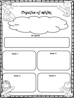 Organiza tu opinión. Adaptación. Original en inglés en este mismo tablero.
