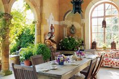Loggia Dining - Design ideas and inspiration for outdoor dining - from leafy hideaways to modern pavilions. HOUSE - design, food and travel by House & Garden.