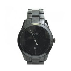 Hugo Boss Watches Gq Men Of The Year Watch ($440) ❤ liked on Polyvore featuring men's fashion, men's jewelry, men's watches and black