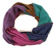 Hemp Organic Cotton Jersey Knit Neck Warmer Infinity Scarf by EarthboundCreations, $13.00