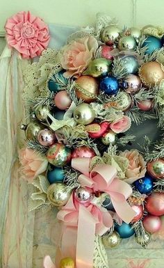 Beautiful ornament wreath- Christmas, Easter or anytime