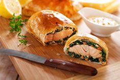 Шпинатный пирог с лососем