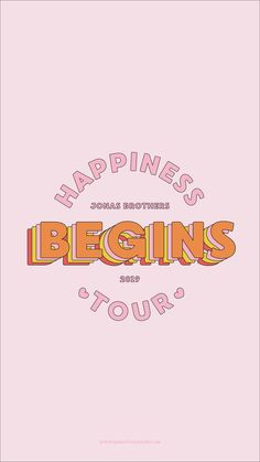 Jonas Brothers Happiness Begins Tour Phone Background