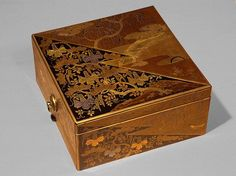 Decorative Boxes  :     Stationery box, Momoyama period (1573–1615), early 17th century  Japan  Lacquer, with sprinkled gold decoration in Kodaiji style, inlaid with gold and silver foil    -Read More –   - #DecorativeBoxes https://decorobject.com/decorative-objects/decorative-boxes/decorative-boxes-stationery-box-momoyama-period-1573-1615-early-17th-century-japan-lacque/