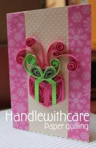 Biglietti - Handlewithcare Paper  quilling Christmas