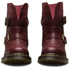 Dr. Martens Leather Kristy High Boots ($109) ❤ liked on Polyvore featuring  shoes