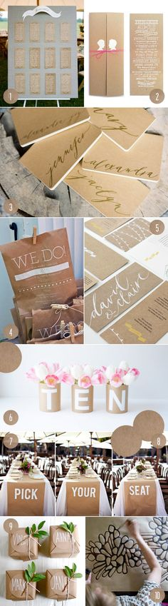 top 10: kraft details, pretty ideas! (especially love those table runners)