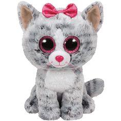 TY Beanie Boo s KiKi - Grey Cat Large 0128fc908b73