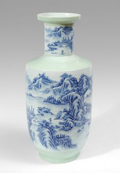Decorated Fishing Urn Blue And White Fish Tank China 19Th Century Decorated With Shou