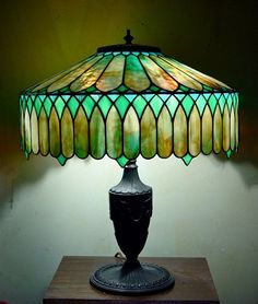 Stained Glass Lampshade - Tiffany Studios
