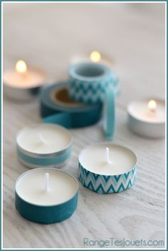 The best DIY projects & DIY ideas and tutorials: sewing, paper craft, DIY. Diy Candles Ideas Petit scotch imprimé original Plus -Read Homemade Baby Shower Favors, Cheap Baby Shower Favors, Baby Shower Favours For Guests, Cheap Favors, Tapas, Tape Crafts, Diy And Crafts, Scotch, Ideias Diy