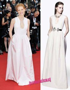 Jessica Chastain de Alexander McQueen en la ceremonia de apertura del Festival de Cannes