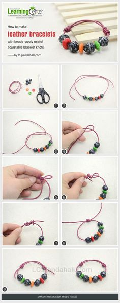 How to Make Custom Leather Bracelets with Acrylic Beads and Wood Beads