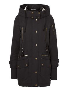 Keep warm in this detailed parka coat from Noisy may 894003fea1