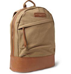 WANT Les Essentiels de la VieKastrup Leather-Trimmed Cotton-Canvas Backpack|MR PORTER