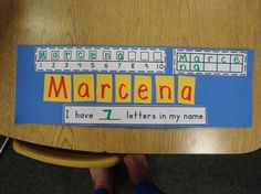 How Many Letters Are in Your Name? Students review numbers 1 to 10 by counting the number of letters in their names and their classmates' names. They also write and order numbers. The class compiles students' finished product in a class book.