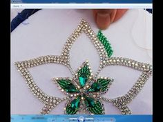 hand embroidery/beautifull flower with beads /beads work Bead Embroidery Tutorial, Tambour Embroidery, Hand Embroidery Videos, Bead Embroidery Patterns, Hand Embroidery Flowers, Bead Embroidery Jewelry, Hand Embroidery Designs, Embroidery With Beads, Beaded Earrings