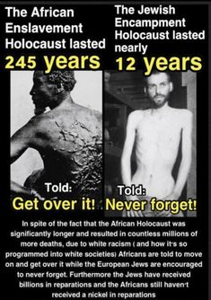 Both are horrible crimes against humanity but slavery should be remembered just as much as the holocaust