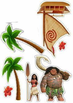 Moana Party, Moana Birthday Party, Luau Party, Diy Birthday, Maui Moana, Flamingo Birthday, Disney Scrapbook, Diy Party Decorations, Paper Dolls