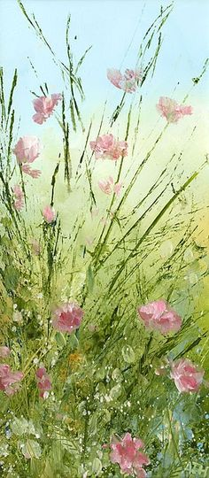 Oil painting by artist Amanda Hoskin. Drawing Artist, Painting & Drawing, Watercolor Flowers, Watercolor Paintings, Watercolors, Abstract Flowers, Arte Floral, Beautiful Artwork, Love Art