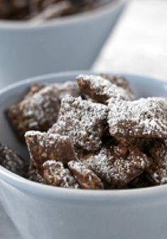 Puppy Chow – Quick, easy, and awesome for parties, the delicious duo of peanut butter and chocolate is at it again in this delectable dessert recipe!