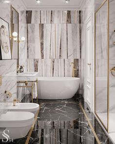 """110 gilla-markeringar, 1 kommentarer - ДИЗАЙН ИНТЕРЬЕРА И АРХИТЕКТУРА (@studia_54) på Instagram: """"Ванная комната чаще всего является единственным местом, где человек может насладиться уединением и…"""""""