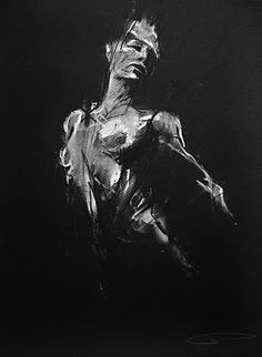Guy Denning - Dying Slaves (4), life drawing: chalk and conte on paper