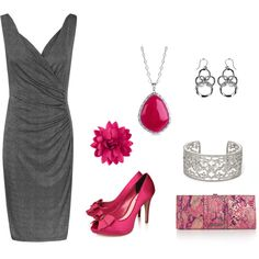 perfect for a special occasion. the ruching on the dress is slimming. ahhh, slimming..