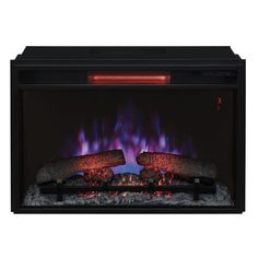 26 in. Infrared Quartz Electric Fireplace Insert with Flush-Mount Trim Kit at The Home Depot - Mobile Screen Porch Kits, Black Electric Fireplace, Electric Fireplaces, Infrared Fireplace, Large Curtains, Wicker Dining Set, Fireplace Inserts, Fireplace Ideas, House With Porch
