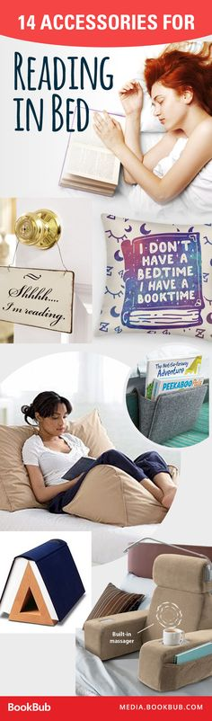 14 accessories that make reading in bed even better. These would make perfect gifts!