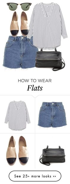 """Untitled #4053"" by style-by-rachel on Polyvore featuring Topshop, Monki, Chanel, Givenchy and Ray-Ban"